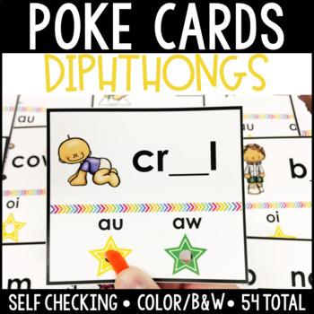 Diphthong Self Checking Poke Cards BUNDLE