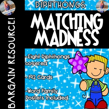 Diphthong Posters & Matching Game Cards!