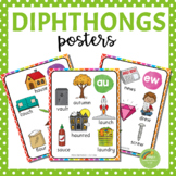 Diphthong Posters and Coloring Pages (au, ew, aw, oo, oi,