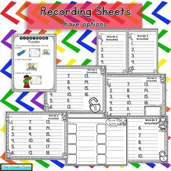 Diphthong Puzzles (Word Work Activities for Literacy Centers)