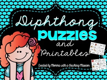Diphthong Puzzles with No Prep Printables