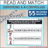 Digital & Printable Phonics - Diphthong & R-Controlled Vowel Sentences