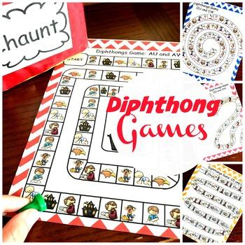 Diphthong Reading Games