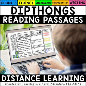 Diphthong Reading Passages - Fluency and Skill Based Comprehension Notebook