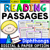 Diphthong Reading Passages - Distance Learning