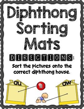 Diphthong Sorting House Mats