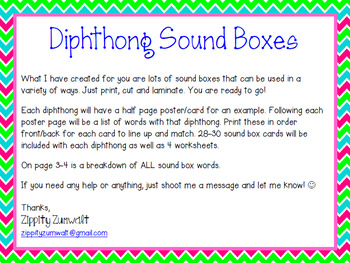 Diphthong Sound Boxes
