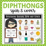 Diphthong Spin & Cover Game (au, ew, aw, oo, oi, ou, oy, ow)