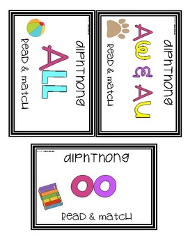 Diphthong Task Cards [Task Box]