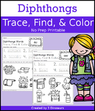Diphthong Trace Color Find
