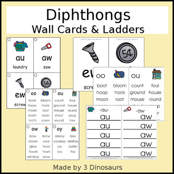Diphthong Wall Cards & Ladders