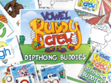 Diphthong Word Buddy Combo Pack (OI, OU, OW, OY) Tags and Posters