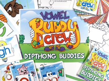 Diphthong Word Buddy Combo Pack (OI, OU, OW, OY) Cards and Posters