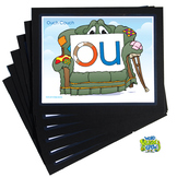 Diphthong Word Buddy Crew Poster Pack (OI, OU, OW, OY)