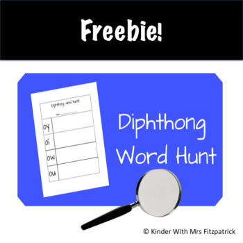 Diphthong Word Hunt