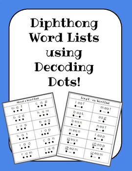 Diphthong Word Lists for Decoding