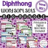 Diphthong Word Sort Sets The BIG Bundle