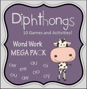 Diphthong Word Work Games
