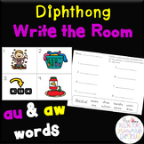 Long Vowel/Diphthong Write the Room (au, aw)