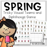 Diphthong and Vowel Teams Review Game for First Grade