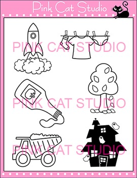 "Diphthong ""au"" Phonics Clip Art Set - Commercial Use Okay"