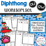 Diphthongs au, aw Word Sort Set