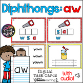 Diphthong: aw BOOM Cards™ * Distance Learning *