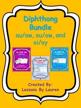 Diphthong bundle - au/aw, ou/ow, oi/oy