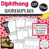 Diphthongs ew, oo Word Sort Set