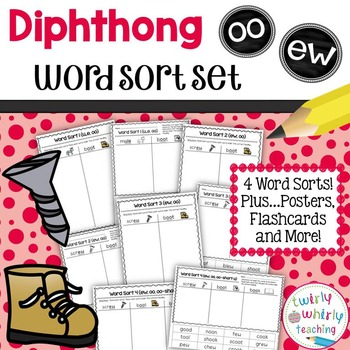 Diphthongs ew, oo Word Sort Set