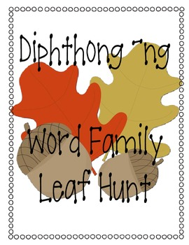 Diphthong ng Leaf Find Activity