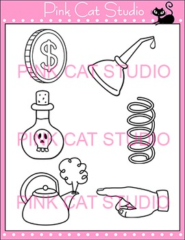 """Diphthong """"oi"""" Phonics Clip Art Set - Commercial Use Okay"""