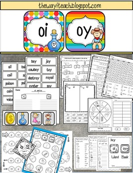 Diphthongs: oi oy {Word Work, Independent Work, Games, Centers}