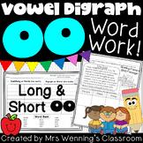 Spelling Pattern oo Word Work Pack!