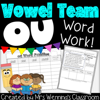 Diphthong ou! A Week of Lesson Plans, Activities, & Word Work!