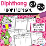 Diphthong ou, ow Word Sort Set