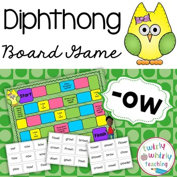 Diphthong ow Board Game