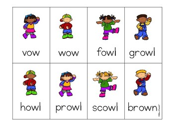 Diphthong ow Phonics Game