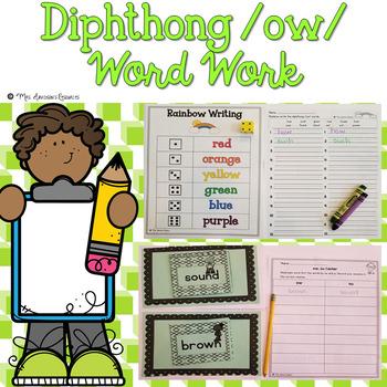 Diphthong ow Word Work