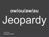 Diphthong (ow, ou, aw, au) JEOPARDY