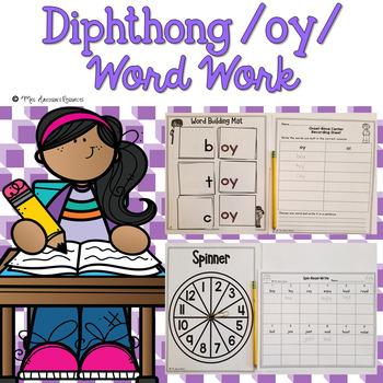 Diphthong oy Word Work