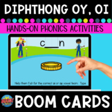 Diphthong oy and oi Vowel Teams Boom Digital Task Cards