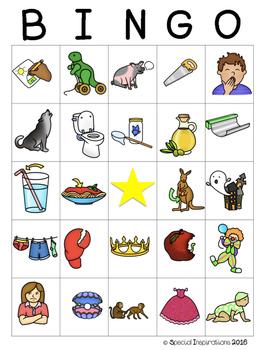 Diphthong's au/aw, oi/oy, ow/ou Bingo Games