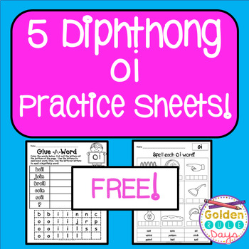 Diphthongs FREE 5 Practice Sheets For oi and oy Diphthongs