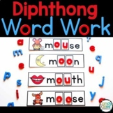 Diphthongs Word Work Activities & Vocabulary Cards for Rea
