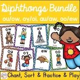 Diphthong Phonics Bundle - Print & Digital Activities for