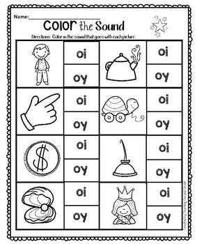 Vowels Diphthongs oi and oy