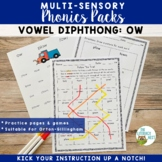 Diphthongs OW Orton-Gillingham Level 2 Multisensory Phonic