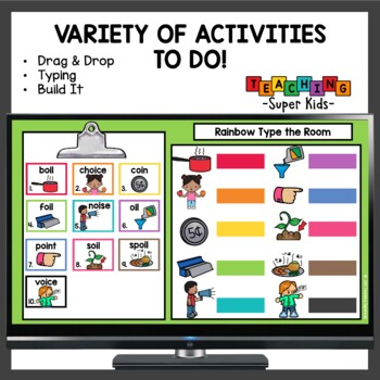 Diphthongs OI and OY Activities