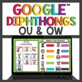 Diphthongs ou and ow for Google Slides™ Digital  and Print Activities